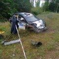 Georg Grossi auto pärast avariid.