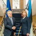 Antonio Tajani ja Kersti Kaljulaid kohtusid Kadriorus