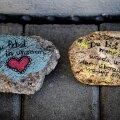 OLED MEIE SÜDAMES: Lasteaia trepile on Greta mälestuseks jäetud kaunistatud kivid.
