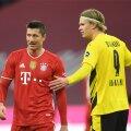 Praegune maailma parim jalgpallur Robert Lewandowski (vasakul) ja tõenäoliselt tulevane parim Erling Braut Håland