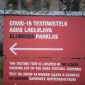 Koroonaviiruse drive-in testimine Tartus
