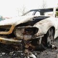 Põlenud autovrakk