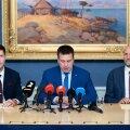 Koalitsioonierakondade esimeeste ühine pressikonverents.