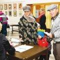Vallas käis valimas 8604 inimest. Pildil on valimisjaoskond nr 1, mis asus Nelgi tee 1. Foto: Aime Estna