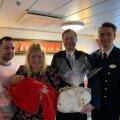 ФОТО   Появившаяся на свет на борту Baltic Queen девочка вместе с родителями прибыли в Таллинн