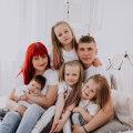 Perekond Kulbin kasvatab nelja tütart nende isikuomadusi toetades ja arendades