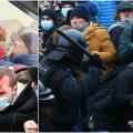 DELFI MOSKVAS | Jõhkrus protestijate vastu: julgeolekujõud ründasid rasedat naist. Ohvrile appi tõtanud poisse taoti nuiadega vastu pead