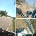 VIDEO | Nagu märulifilmis: lubadeta mootorrattur põgenes politsei eest, kuid jäi mullahunnikusse kinni