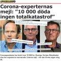 Aftonbladet avalikustas Rootsi teadlaste vestluse: 10 000 koroonasurma - nukker, ent mitte katastroof