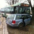 FOTOD: Veerenni tänaval põrkasid kokku autod ja liinibuss, kaks inimest sai vigastada