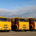 KAMAZi veoautod Pulkovo lennuväljal.