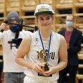 Anna Gret Asi jõudis enne Eestist lahkumist kodulinna Tartu Eesti meistriks vedada.