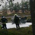 ФОТО И ВИДЕО | В Мяннику столкнулись легковушка и грузовик, один из водителей погиб