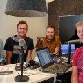 Rivo Vesik, Karl Rinaldo, Andres Toobal ja Andrei Ojamets Manta Maja stuudios.