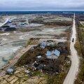 Niisugune oaas keset tööstuskõrbe on Tammi tee 15. Droonipilt on tehtud tänavu 28. jaanuaril.