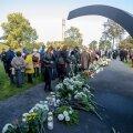 Estonia laevaõnnetuses hukkunute mälestustseremoonia Katkenud Liini juures