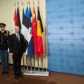 ФОТО: В помещении Совбеза ООН установили флаг Эстонии