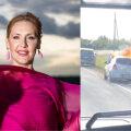 VIDEO | Kaire Vilgatsi auto hävis Tallinna-Tartu maanteel leekides: möödasõitja päästis mu asjad, olin nagu puuga pähe saanud