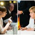 Керсти Кальюлайд и Ангела Меркель