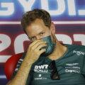 Sebastian Vettel Ungaris pressikonverentsil