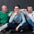 """Raoul Annion (vasakult)  Toom Tragel ja Marek Laimets loodavad """"Kalevipoja"""" pilteeposena paari aasta jooksul kaante vahele saada."""