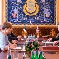 President Kersti Kaljulaid kohtus täna Kadriorus Ühendkuningriigi kaitseministri Gavin Williamsoniga