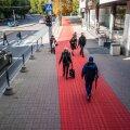 Tallinna Kaubamaja kõrval rattateel ei ole kuidagi märgistatud, kelle jaoks see mõeldud on. Pealegi on seal lahendamata poest väljujate tee, ülekäiguraja ja rattatee ohutu ristumine, rääkimata poolikust ruumiplaneerimisest.