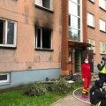 ФОТО   В пожаре в многоквартирном доме погибли два человека, еще один в больнице