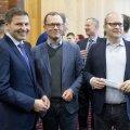 Hanno Pevkur, Urmas Klaas ja Urmas Paet Reformierakonna volikogul