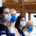 Erika Kirpu (paremalt), Julia Beljajeva, Katrina Lehis ja Irina Embrich on Tokyos särtsu täis.