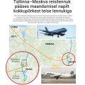 ГРАФИК: Смотрите, какие маневры совершал самолет из Таллинна, чтобы избежать столкновения над Москвой
