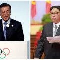 Lõuna-Korea president Moon Jae-in ja Põhja-Korea liider Kim Jong-un