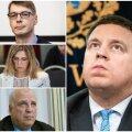 ИНТЕРАКТИВНЫЙ ГРАФИК | Вранье, домашнее насилие, пьяное вождение: кто из министров двух правительств Ратаса ушел в отставку и почему?
