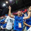 Võrkpalliliidu president Hanno Pevkur ja kõik mängijad loodavad väga, et kodune EM toimub ikka fännide eest.