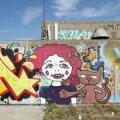 Grafiti Linnahalli seintel.