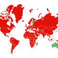 KAART | Norra muutus samuti punaseks. Vaata, millistest riikidest saabudes tuleb karantiini jääda!