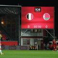 Leuveni staadioni tabloo pärast Belgia - Valgevene MM-valikmängu.