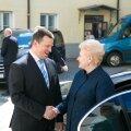 Peaminister Jüri Ratas kohtus Leedu presidendi Dalia Grybauskaitėga