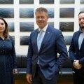 Terviseameti juhid Mari-Anne Härma (vasakult), Üllar Lanno ja Ragnar Vaiknemets kinnitavad, et ehkki madal vaktsineeritus Ida-Virumaal teeb muret, lubab viiruse taandumise tempo suvele optimistlikult vaadata.