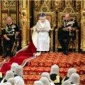 Parlamendi kuninglik avamine, Elizabeth II loeb kõnet ette
