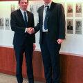 USA asevälisminister David Hale ja Eesti välisminister Urmas Reinsalu kohtumisel