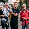 Sporinädala patroon Kristel Kruustük ja sportliku abikaasa Marko ja perega!