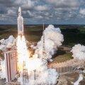 Nelja Galileo satelliiti kandev Ariane 5 startimas Prantsuse Gujaanast 2016. aastal.