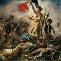 """Eugène Delacroix' """"Vabadus viib rahva barrikaadidele"""" (1830)."""
