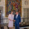 Eesti president Kersti Kaljulaid  ja Taani peaminister Lars Løkke Rasmussen