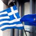 Kreeka ja Euroopa Liidu lipud