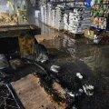 В Кохтла-Ярве в торговом центре произошел пожар