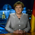 Saksa liidukantsler Angela Merkel eile Berliinis.