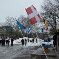 Vabariigi aastapäeval süttis Jüriöö pargis vabaduslõke