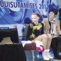 Eike Langerbaur koos oma treeneri Anna Levandiga